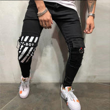 Load image into Gallery viewer, Men's Pencil Skinny Ripped Jeans