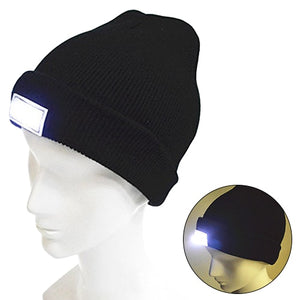 LED Flashlight Hat for Outdoor Activities
