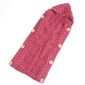 Baby Knitting Wool Crochet Winter Sleeping Bag