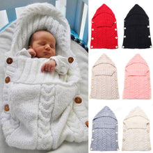 Load image into Gallery viewer, Baby Knitting Wool Crochet Winter Sleeping Bag