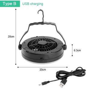 Portable Camping USB Flashlight Fan
