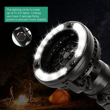 Load image into Gallery viewer, Portable Camping USB Flashlight Fan