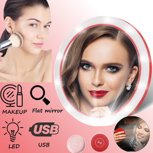 3 in 1 Portable Makeup Mirror Led Light