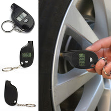 Load image into Gallery viewer, Digital Tire Air Pressure Gauge Tester Key Chain