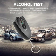 Load image into Gallery viewer, Portable Key Chain Alcohol Breathalyzer