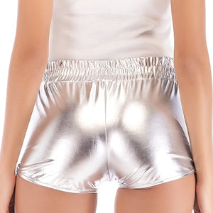 Women's Sexy Leather Short Pants