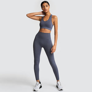 Woman's 2Pcs Seamless Gym Set