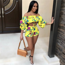 Load image into Gallery viewer, Sexy Off Shoulder Floral 2 Piece Outfit