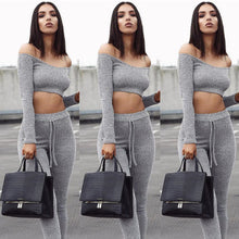 Load image into Gallery viewer, Women's Grey Crush 2Pcs Outfit