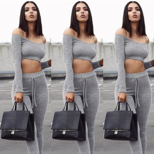 Women's Grey Crush 2Pcs Outfit