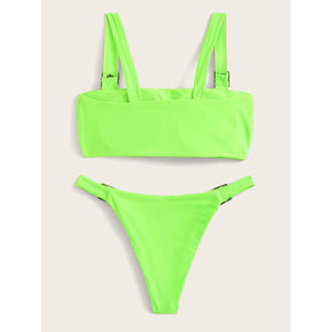 Buckle Top Bikini Set
