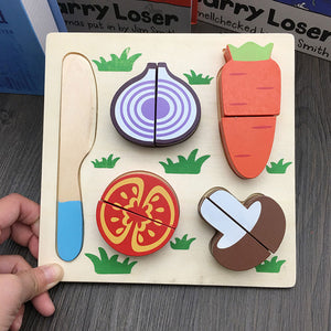 Kids Wooden Fruits & Vegetables Kitchen Toy Set