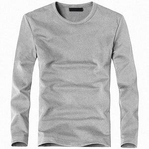 Men's Cotton V-Neck Long Sleeve