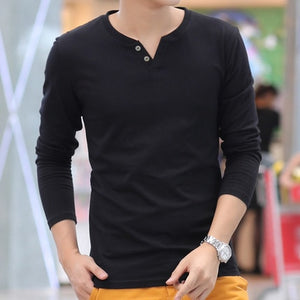 Men's Linen Long Sleeve T-Shirts