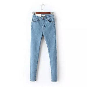 Ladies Elastic High Waist Jeans