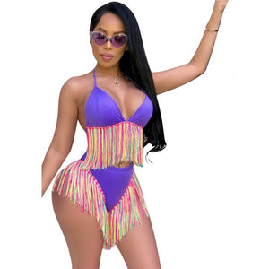 Women's Rainbow 2pcs Set Swimwear