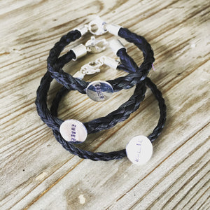 Horsehair Bracelet, created with your own horse hair.