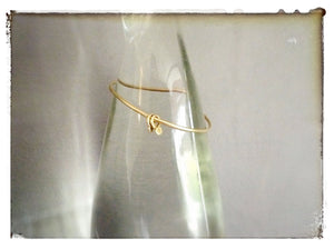 Personalised Gold Bangle