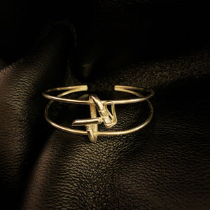 Polomallet bangle in solid silver