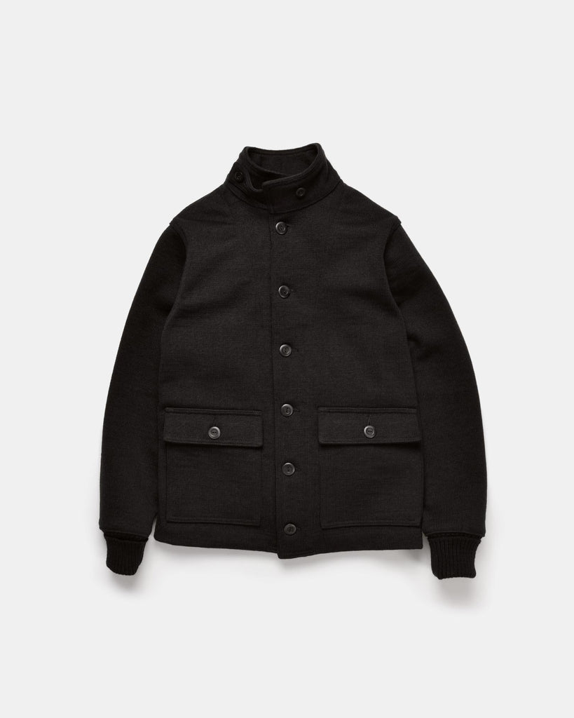 Submariner Sweater Coat - Black - Dehen 1920