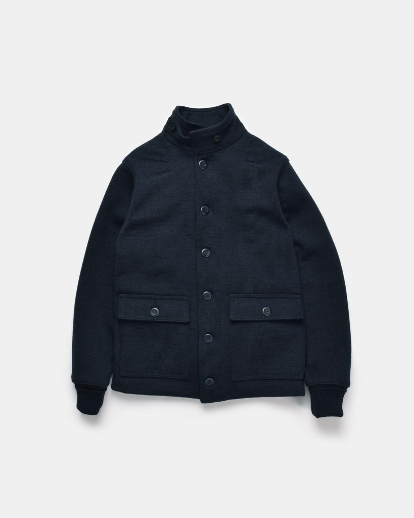 Submariner Sweater Coat - Dark Navy - Dehen 1920