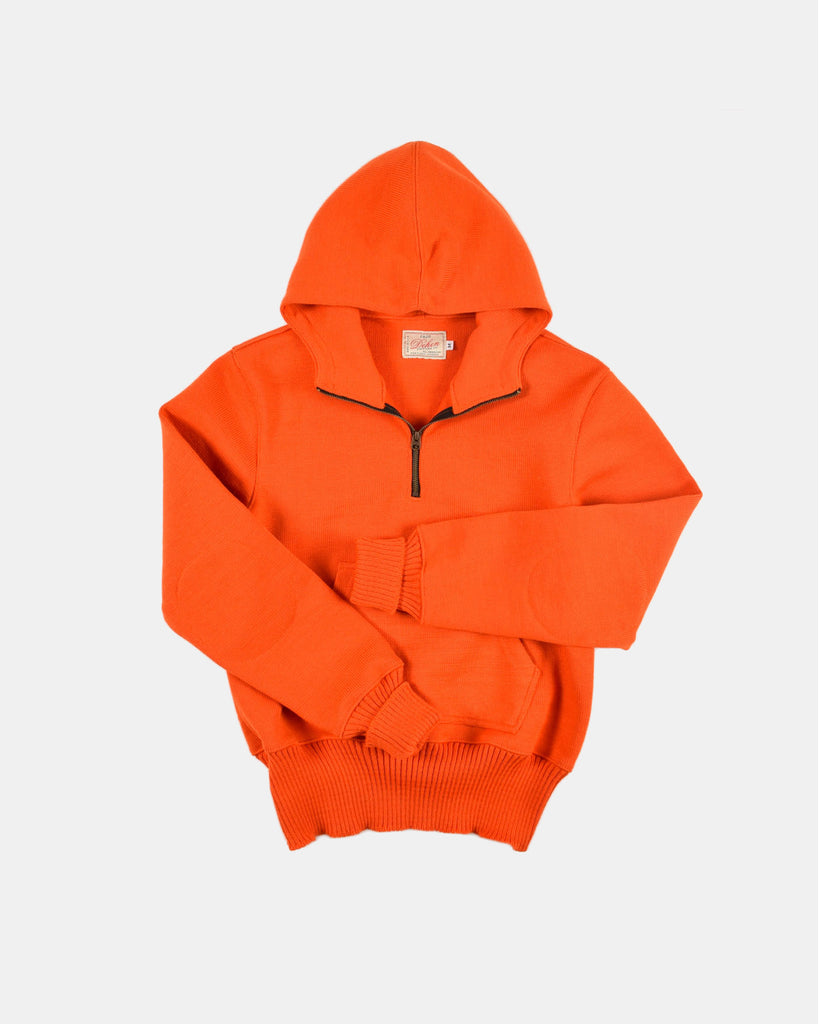 Dehen_1920_1/4_Zip_Moto_Hoodie_Safety_Orange