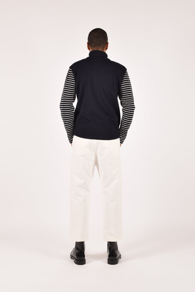Dehen_1920_1/4_Zip_Moto_Jersey_Dark_Navy_Off_White