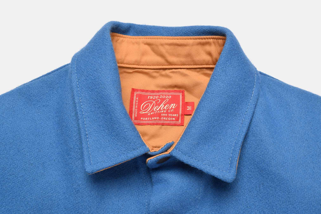 Dehen-1920-Crissman-Overshirt-Columbia-Blue-Label-Detail