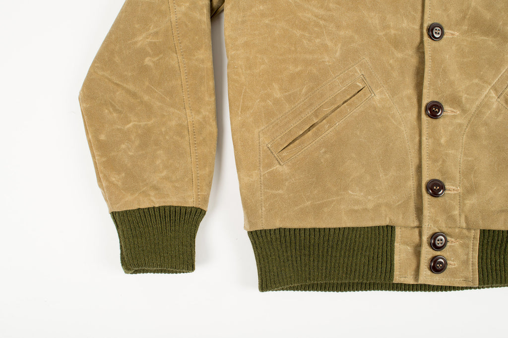 Dehen 1920 Waxed Canvas Club Jacket Field Tan