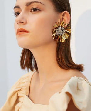 Accessories - Foral Earrings Studs