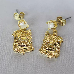 Accessories - Greek Statue Eye Gem Earrings