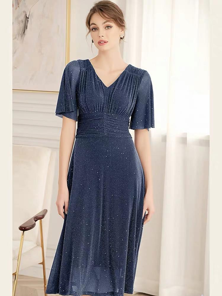 Dresses - Summer Nobel Lady Big Swing Lake Blue Dress