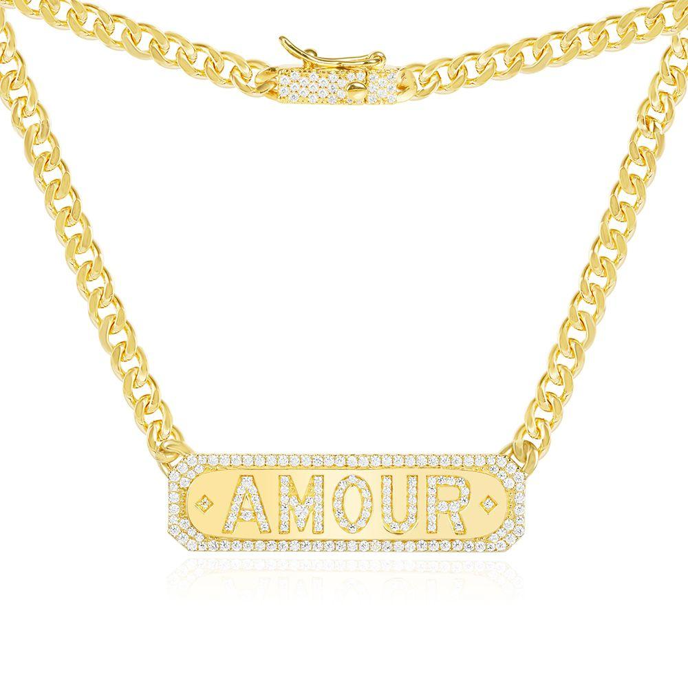 Jewelry Store - APM Monaco Yellow Silver Amour Chain Necklace