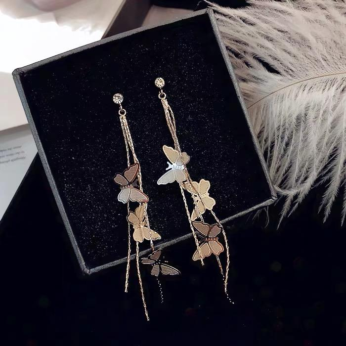 Jewelry Store - Butterfly Tassel Classical Earrings
