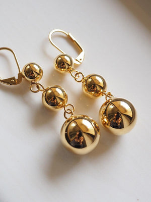 Jewelry Store - French Literary Fashion Gold-plated Pendant Earrings