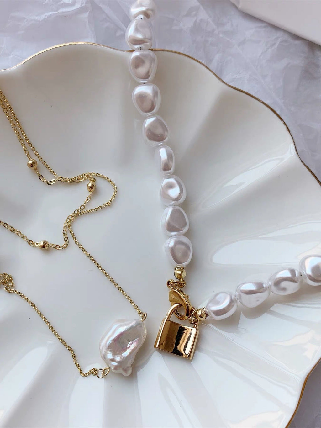 Jewelry Store - Freshwater Pearls Two Tiers Necklace