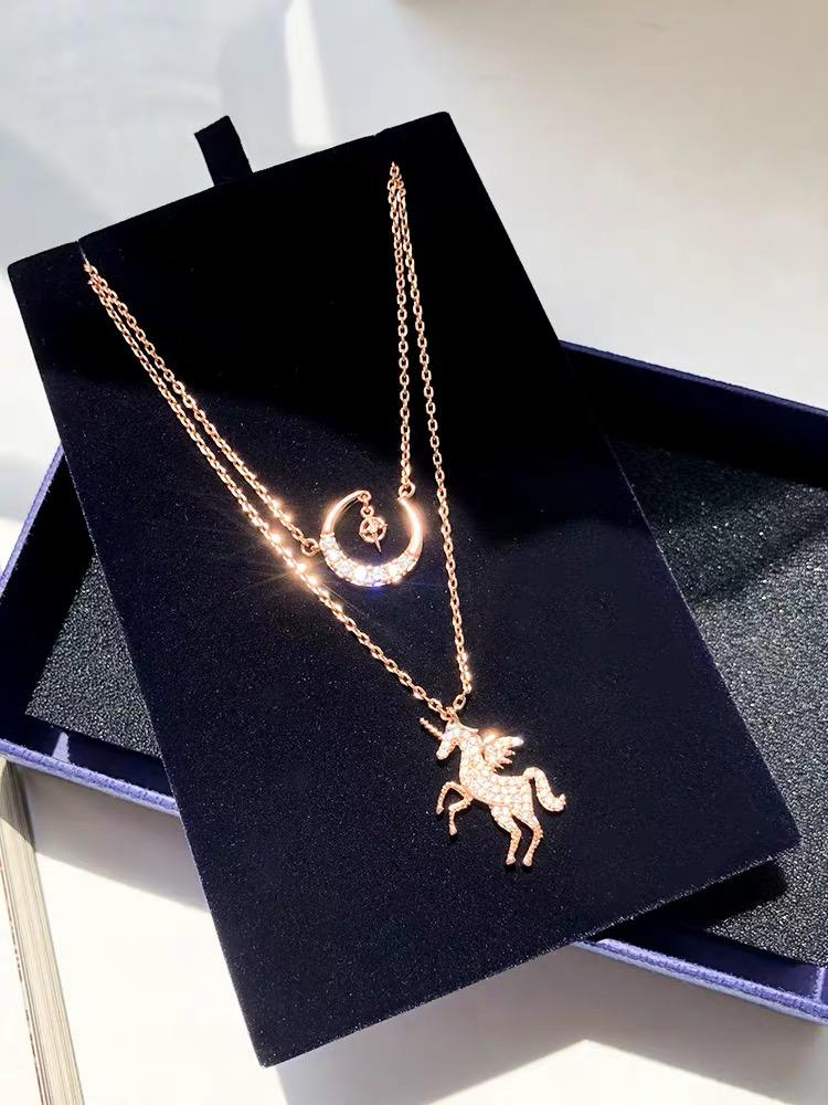 Jewelry Store - Unicorn Two-tiers Necklace