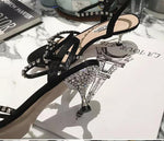 Shoes - Bling Bling Sandals With Crystal Heels
