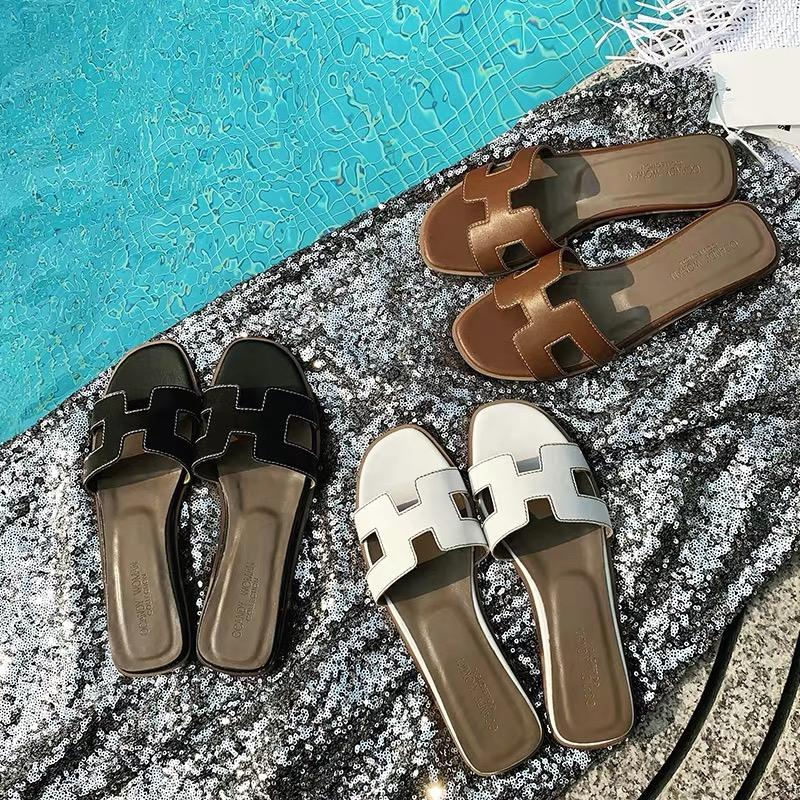 Shoes - Classical H Sandals In Three Colors