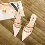 Shoes - Europe Fashion Rivet Pointed Shoes Sandals