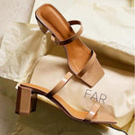 Shoes - France Elegant Versatile Sandals In Wine Red And Milktea Brown