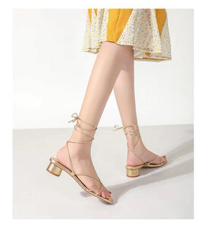 Shoes - New Arrival Golden Straps Rome Sandals