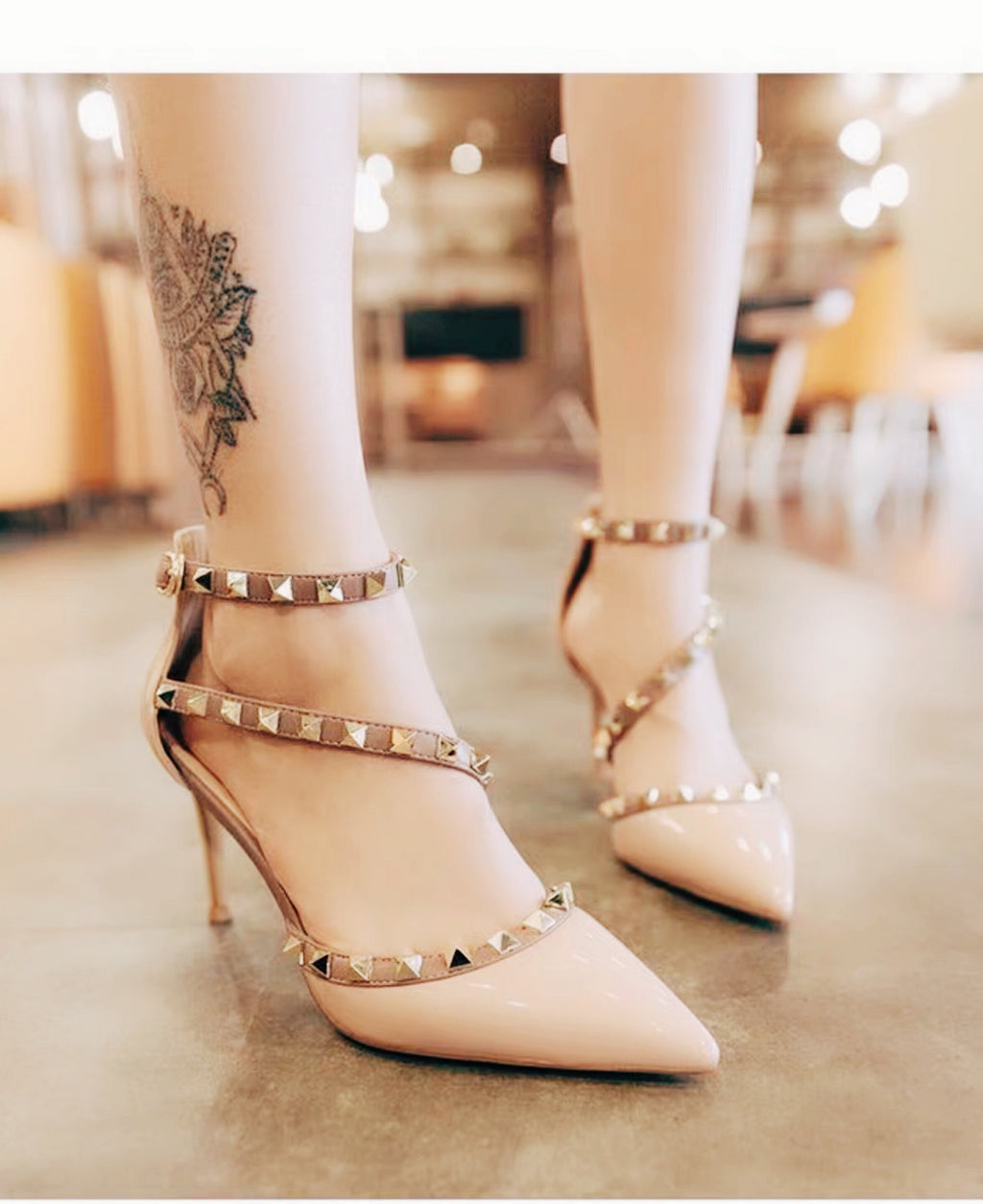 Shoes - New Fashion Rivet Pointed Strap Sandals Shoes In Five Colors
