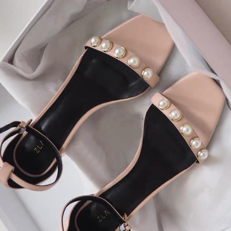 Shoes - Retro Pearls Strap Sandals Shoes