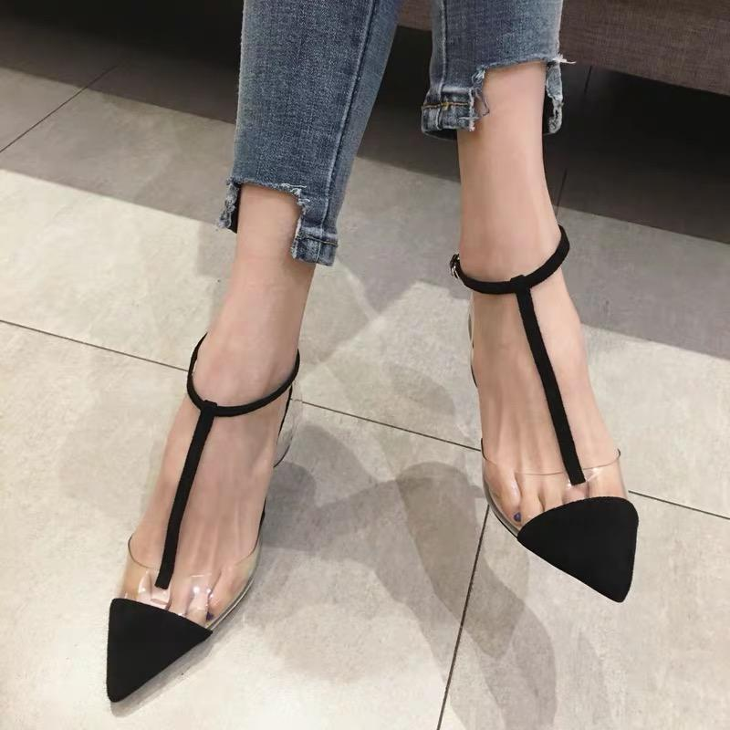 Shoes - T Strap Cusp High-Heeled Sandals Shoes