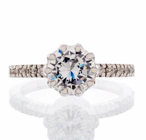 Cubic Zirconia | Cathedral Engagement Ring Image | Boutique CZ