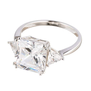 CUBIC ZIRCONIA | PRINCESS CUT | ENGAGEMENT RING
