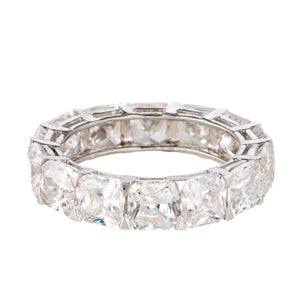 cubic zirconia | asscher cut eternity band image | Boutique CZ