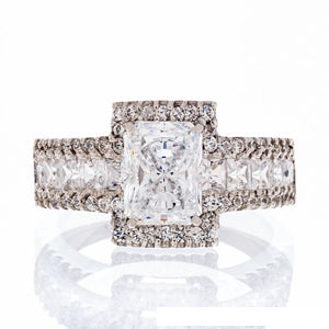 CUBIC ZIRCONIA | RADIANT CUT FAUX | ENGAGEMENT RING