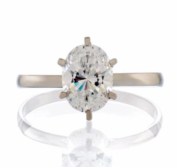 cubic zirconia | oval cut solitaire engagement ring image | boutique CZ